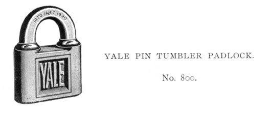 Yale-Patent-padlock